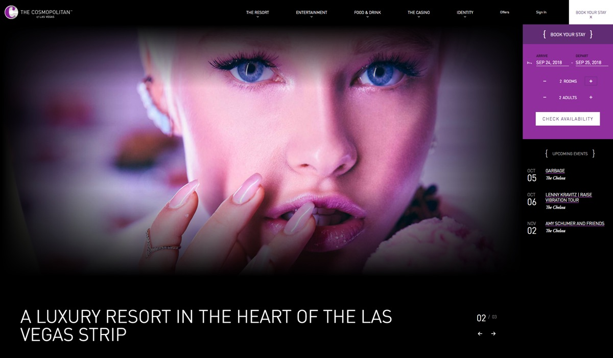 The Cosmopolitan Las Vegas website