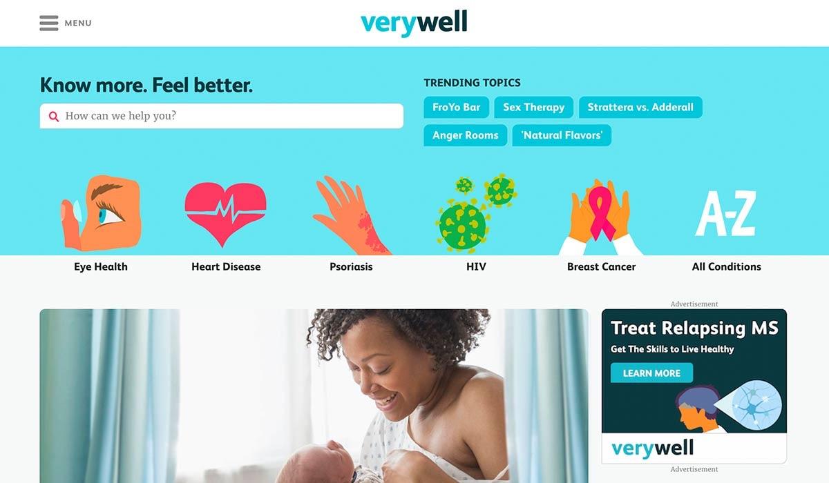 VeryWell website