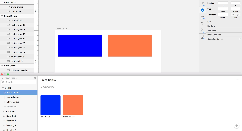 sketch blue orange swatches